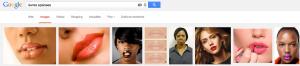 Le mot clé lèvres épaisses correspond mieux à la femme noire